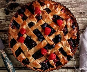 dessert, mixed berries, and pie image