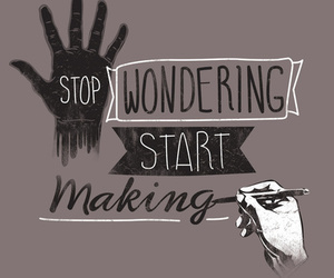 quote, stop, and wondering image