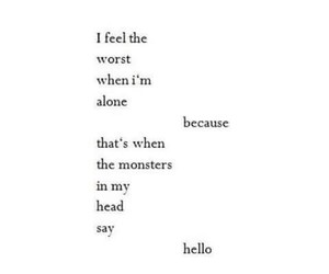 quotes, alone, and monster image