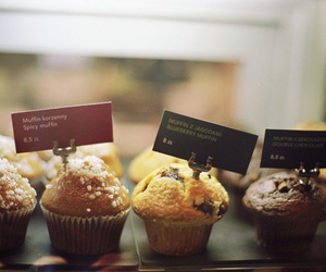 muffin, food, and cupcake image
