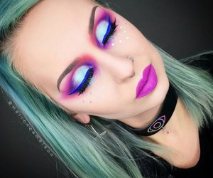 colorful and makeup image
