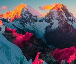 art, mountains, and sky image