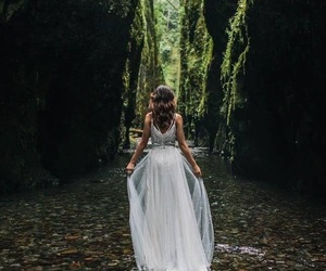 girl, dress, and bride image