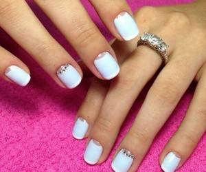 blue, nails, and girl image