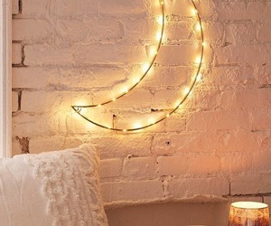 moon, light, and decor image