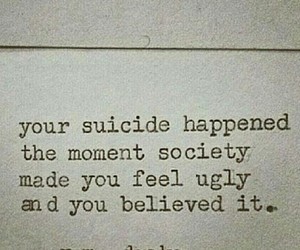 society, suicide, and quotes image