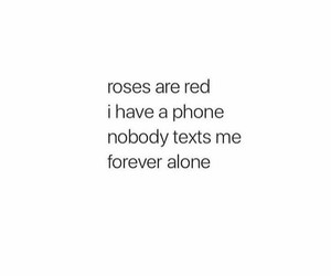 alone, forever, and quote image