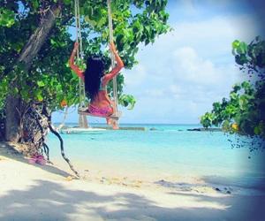 girl, summer, and Maldives image