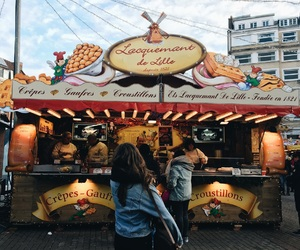 city, grunge, and food stands image