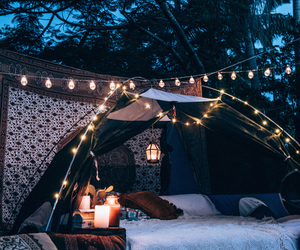 light, night, and camping image