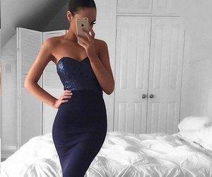 girl, dress, and evening dress image