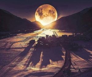 full moon, switzerland, and alluring image