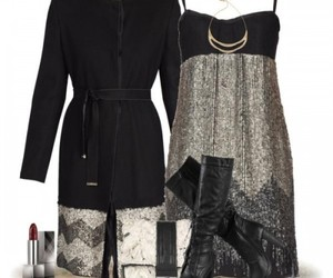 holiday outfit, sequin short dress, and christmass outfits image