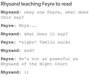rhys, feyre, and rhysand image