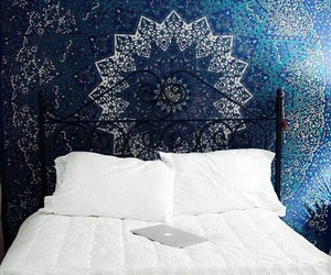 blue, room, and bed image