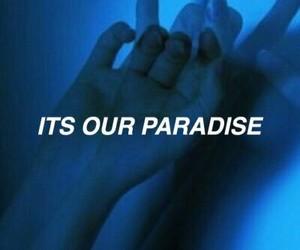 Lyrics, paradise, and song image