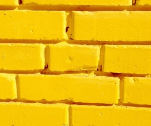 yellow, aesthetic, and brick image