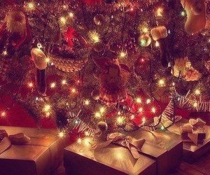 christmas, light, and present image