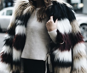 cold, fur coat, and jacket image