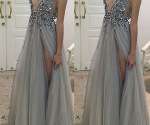 dress, prom dress, and long prom dress image
