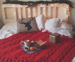 bedroom, red, and food image