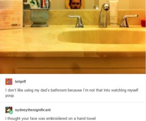 funny, tumblr, and bathroom image