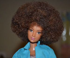 barbie, Afro, and doll image
