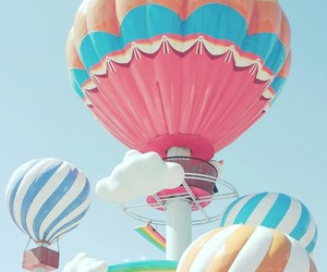 balloon, carnival, and hot air balloon image