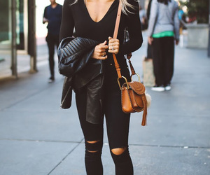black, caramel, and casual image