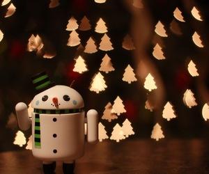 christmas, lights, and snowman image
