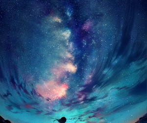 sky, stars, and art image