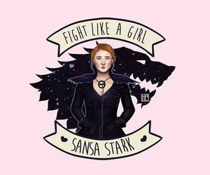 sansa stark, fight like a girl, and got image