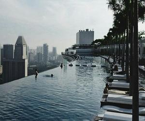 blue, singapore, and sky image