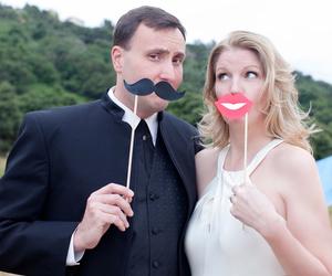 bride, groom, and women image