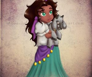 disney, esmeralda, and princess image