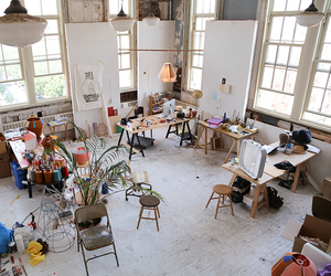 art, room, and studio image