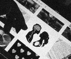 love, black, and blackandwhite image