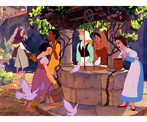 disney, beauty and the beast, and cinderella image