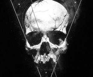 skull, art, and black image