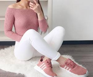 adidas, girl, and wow image