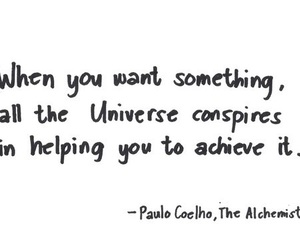 quote, universe, and the alchemist image
