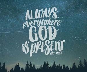 god, jesus, and always image