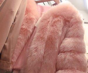pink, fur, and coat image