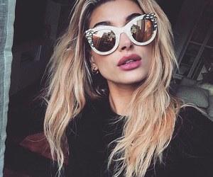 hailey baldwin, model, and sunglasses image
