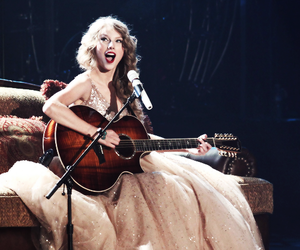 Taylor Swift, speak now, and guitar image