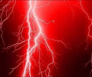 red and lightning image