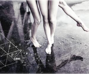 feet, photoshop, and puddle image