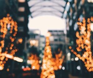 christmas, light, and city image