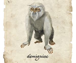 harry potter, newt scamander, and demiguise image