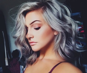 beauty, hairstyles, and makeup image
